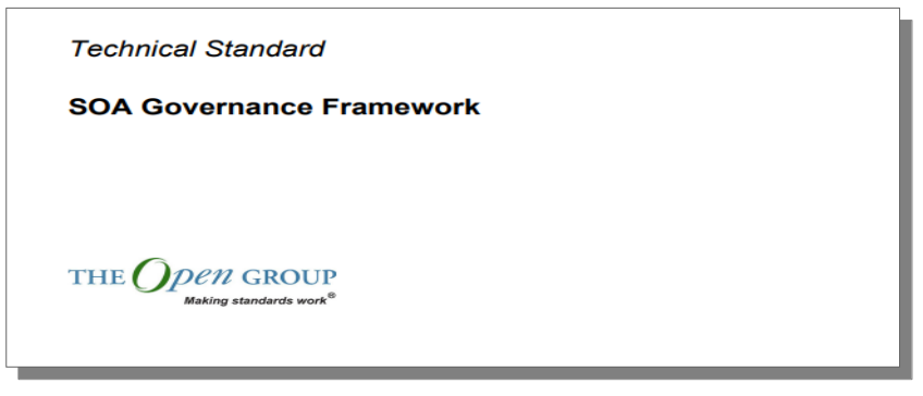 Open Group - SOA Governance